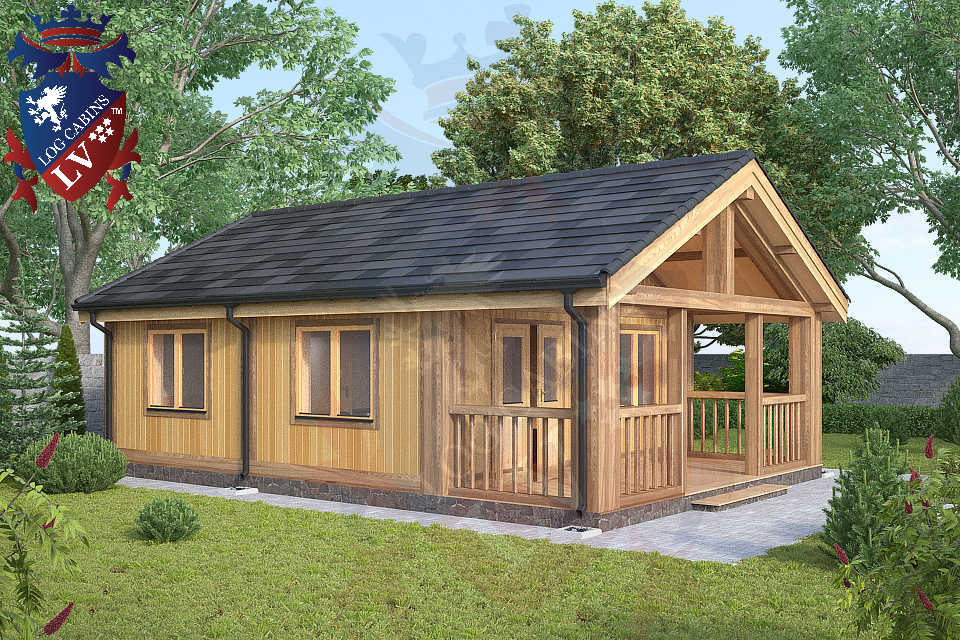 Cabin Bedroom Fitted Furniture: 1 Bedroom Residential Log Cabins From LV