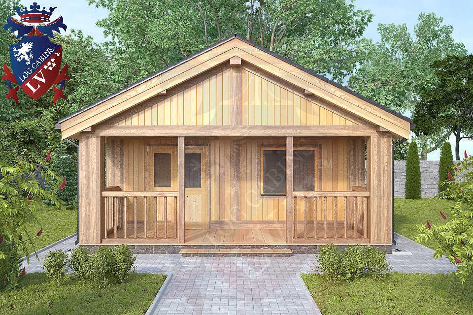1 bedroom Residential log cabins  763