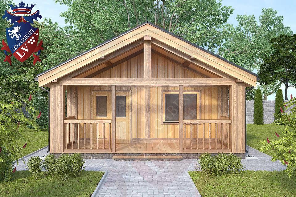 1 bedroom Residential log cabins  764