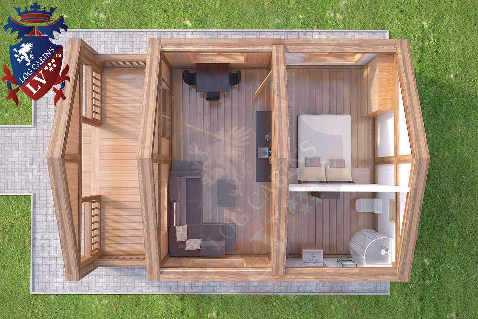 1 bedroom residential log cabins from lv log cabins lv blog for One bedroom log cabin plans