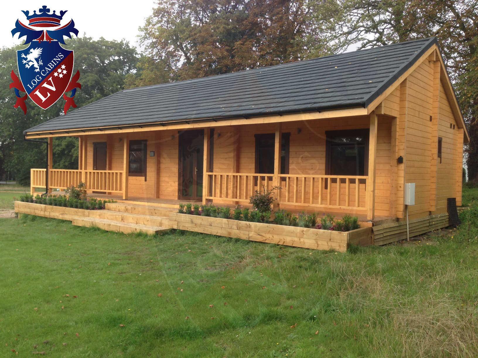120mm glulam log cabins 24