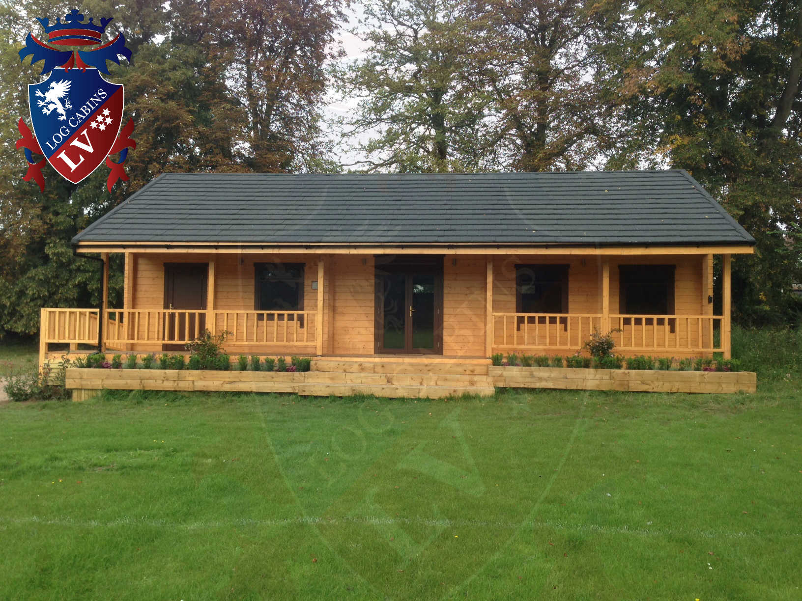 120mm glulam log cabins 25