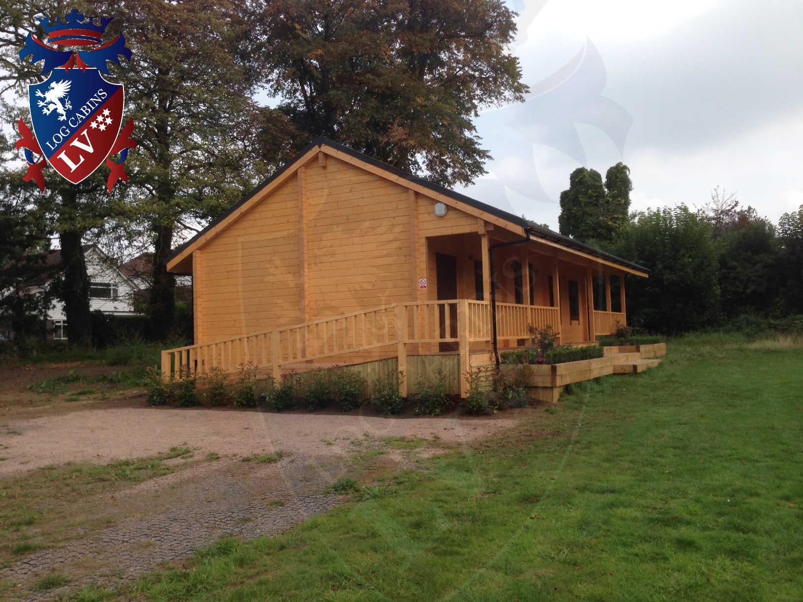 120mm glulam log cabins 26