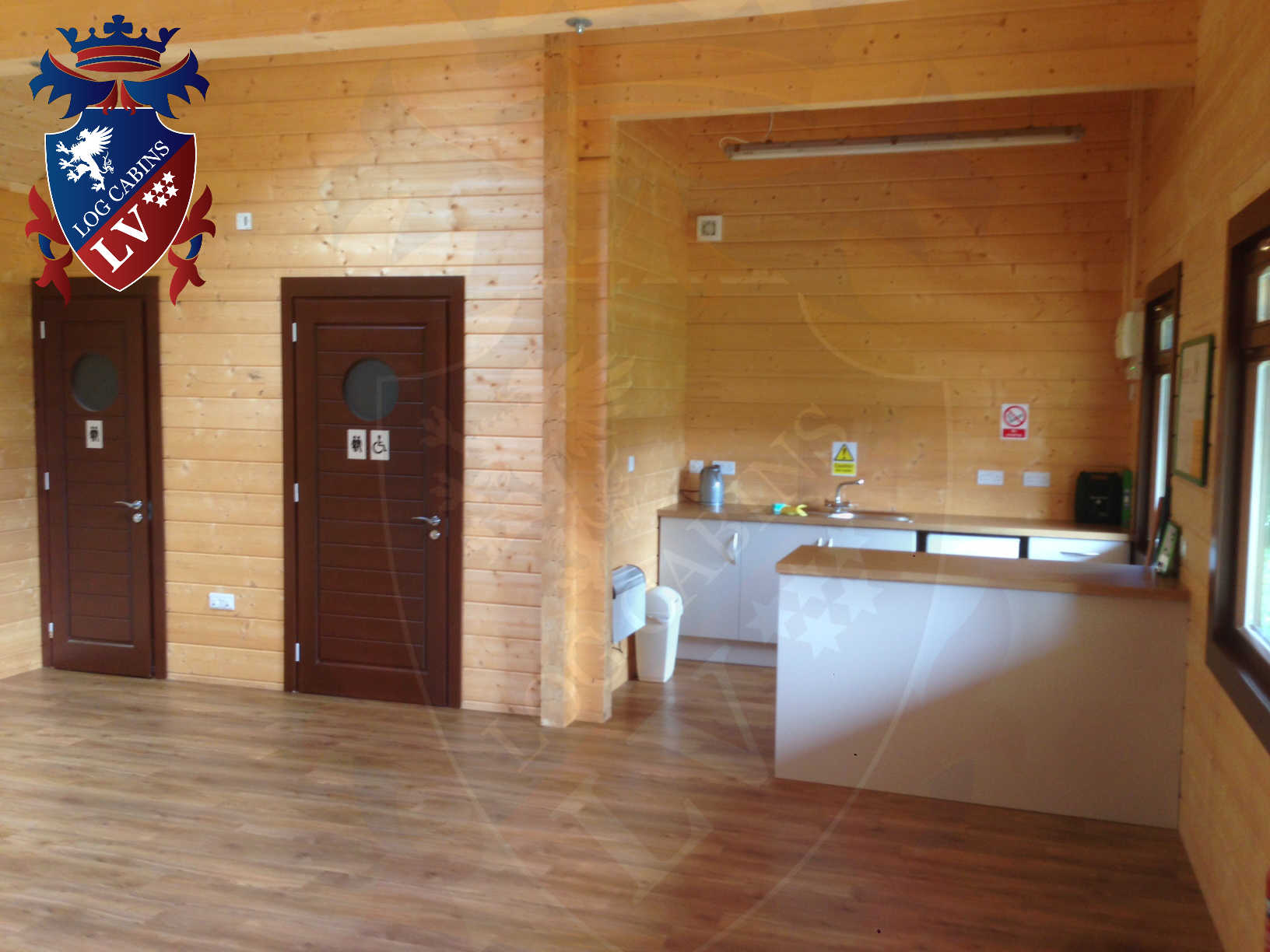 120mm glulam log cabins 30
