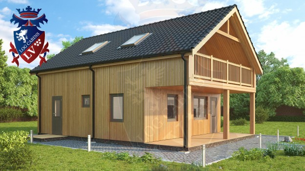 Larch Clad buildings insulated.