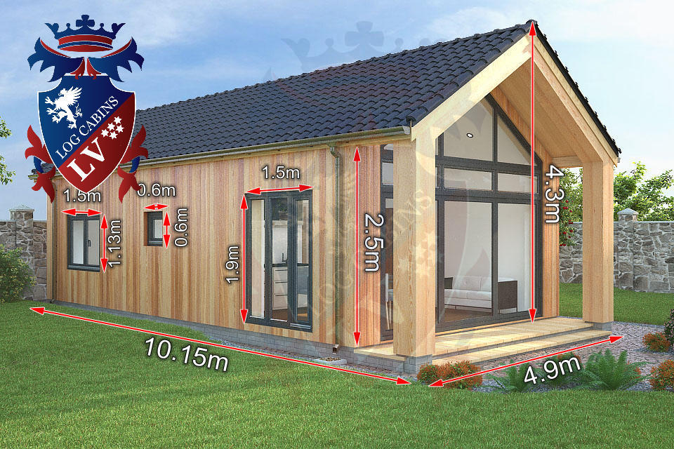 2 bed timber frame holiday cabins 1