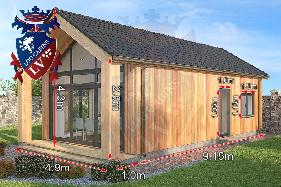 2 bed timber frame holiday cabins 3