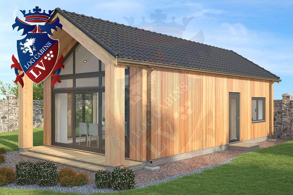 2 bed timber frame holiday cabins 4