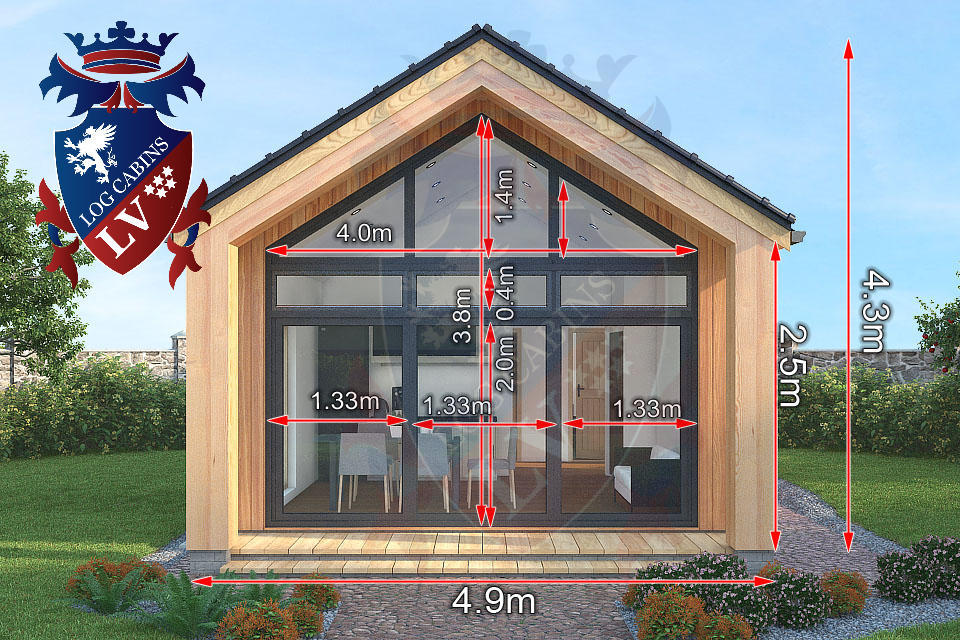2 bed timber frame holiday cabins 5