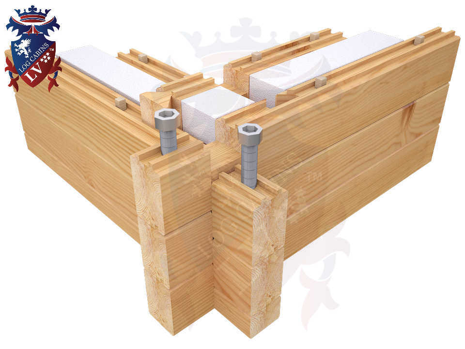 80mm x 80mm twinskin Residential Log Cabins 03