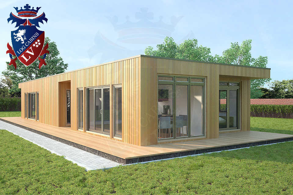 Bespoke highly insualted park home timber frame Buildings 23