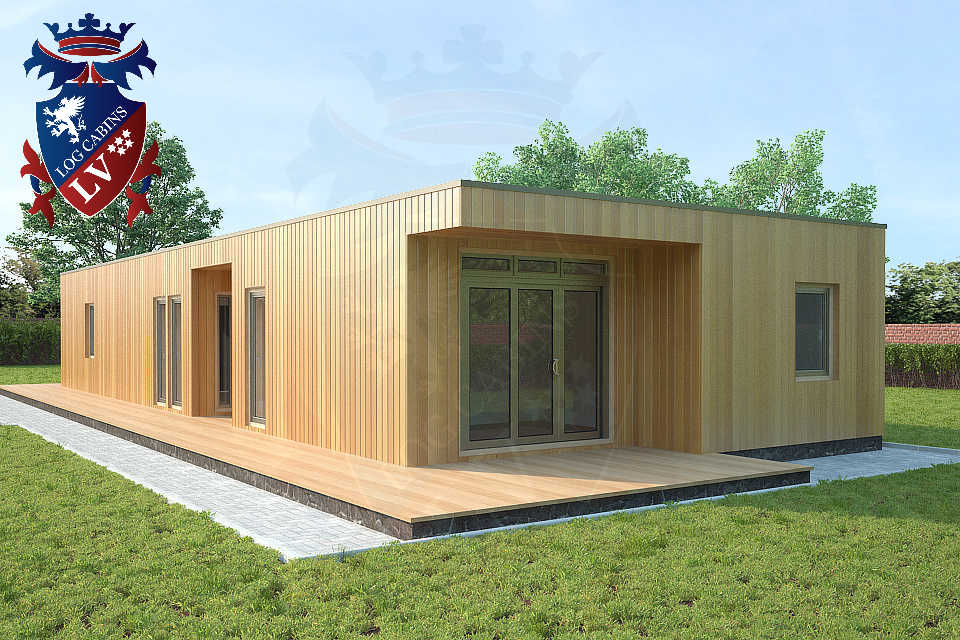 Bespoke highly insualted park home timber frame Buildings 45