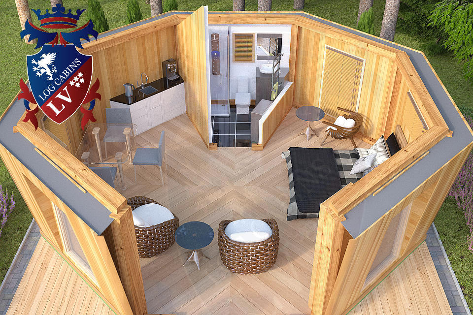 Camping in Luxury by logcabinslv.co.uk