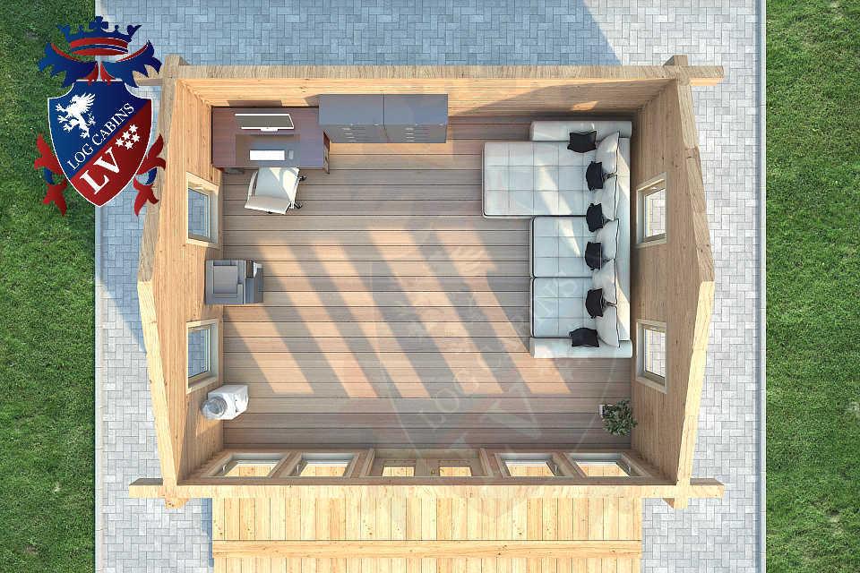 Clock House Log Cabins   0842