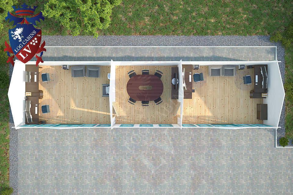 Clock House Log Cabins 15.2m x 4.0m     33