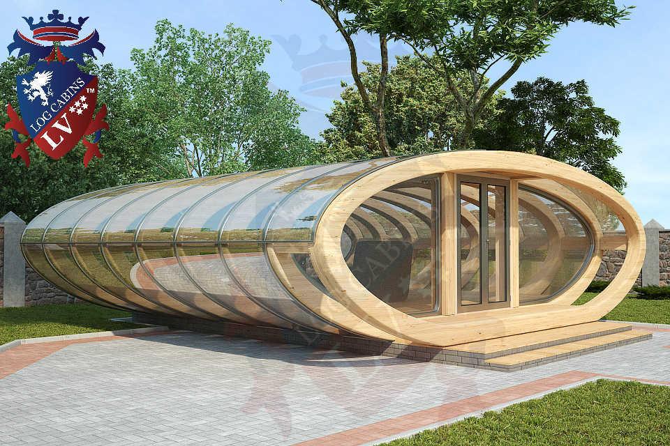 Curved Cinema Pod Log Cabins LV  741