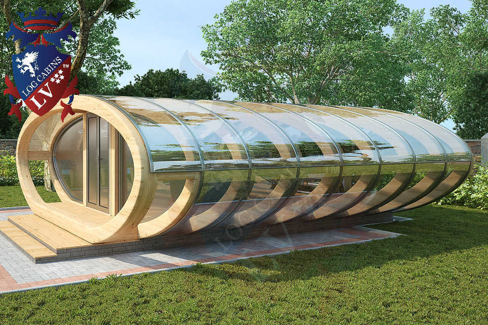 Curved Cinema Pod Log Cabins LV  742