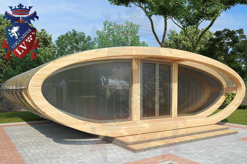 Curved Cinema Pod Log Cabins LV  743