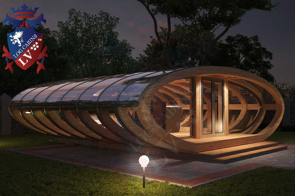 Curved Cinema Pod Log Cabins LV  746