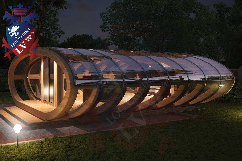 Curved Cinema Pod Log Cabins LV  747