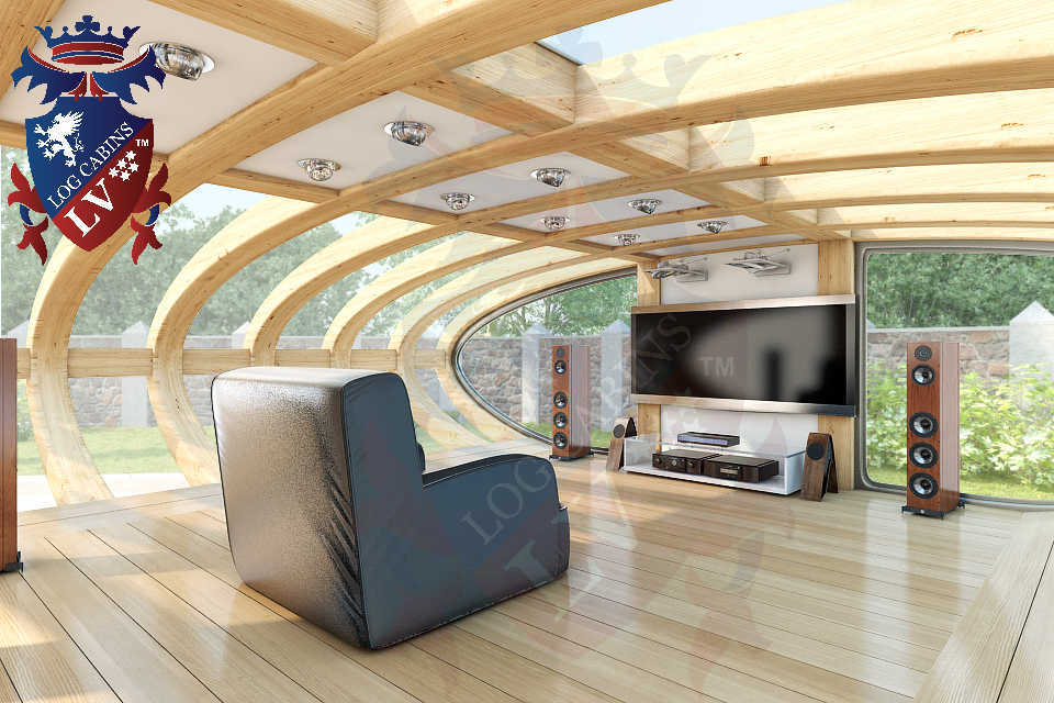 Curved Cinema Pod Log Cabins LV  749