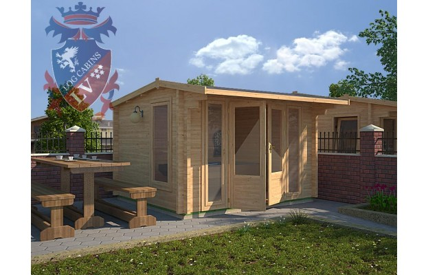 DF 08 3.5m by 3.0m in 44mm Log Cabin