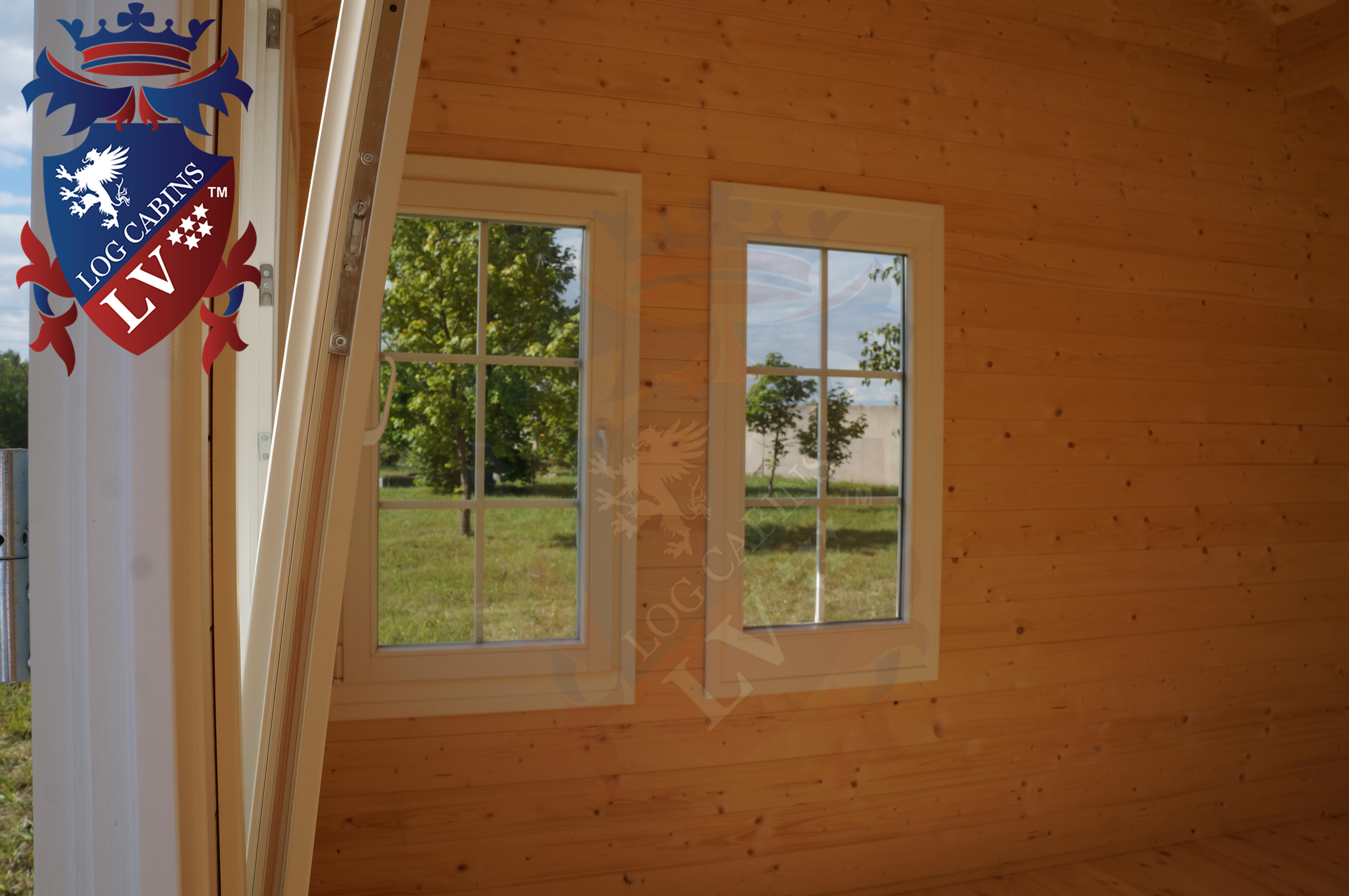 Delux windows and doors log cabins LV  13