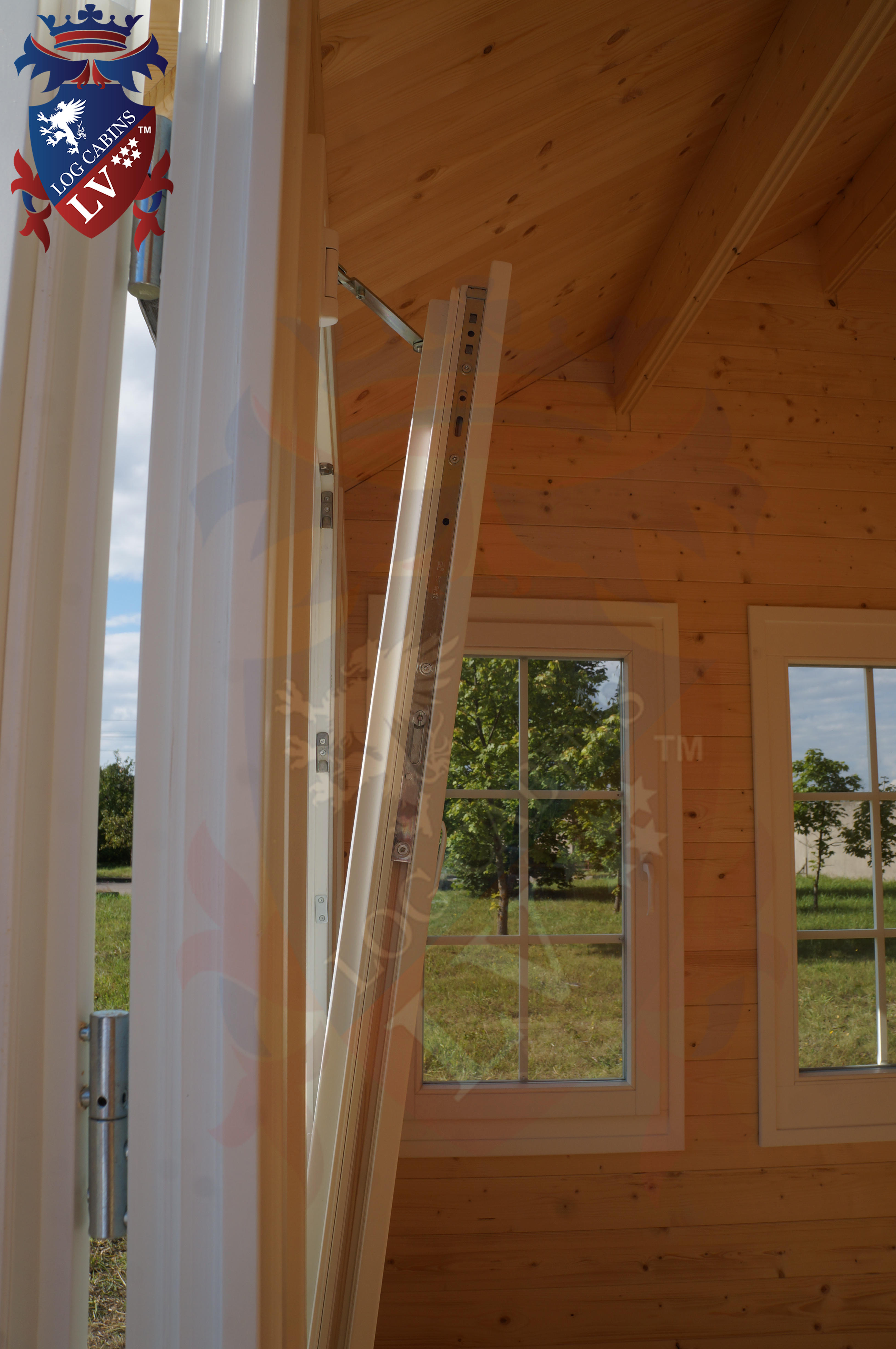 Delux windows and doors log cabins LV  14