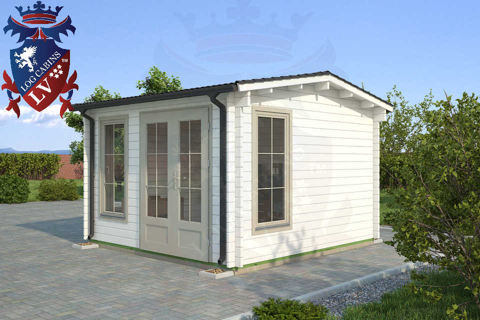 Deluxe Log Cabin 3.5m x 3.5m 73