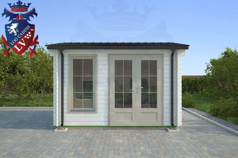 Deluxe Log Cabin 3.5m x 3.5m 74