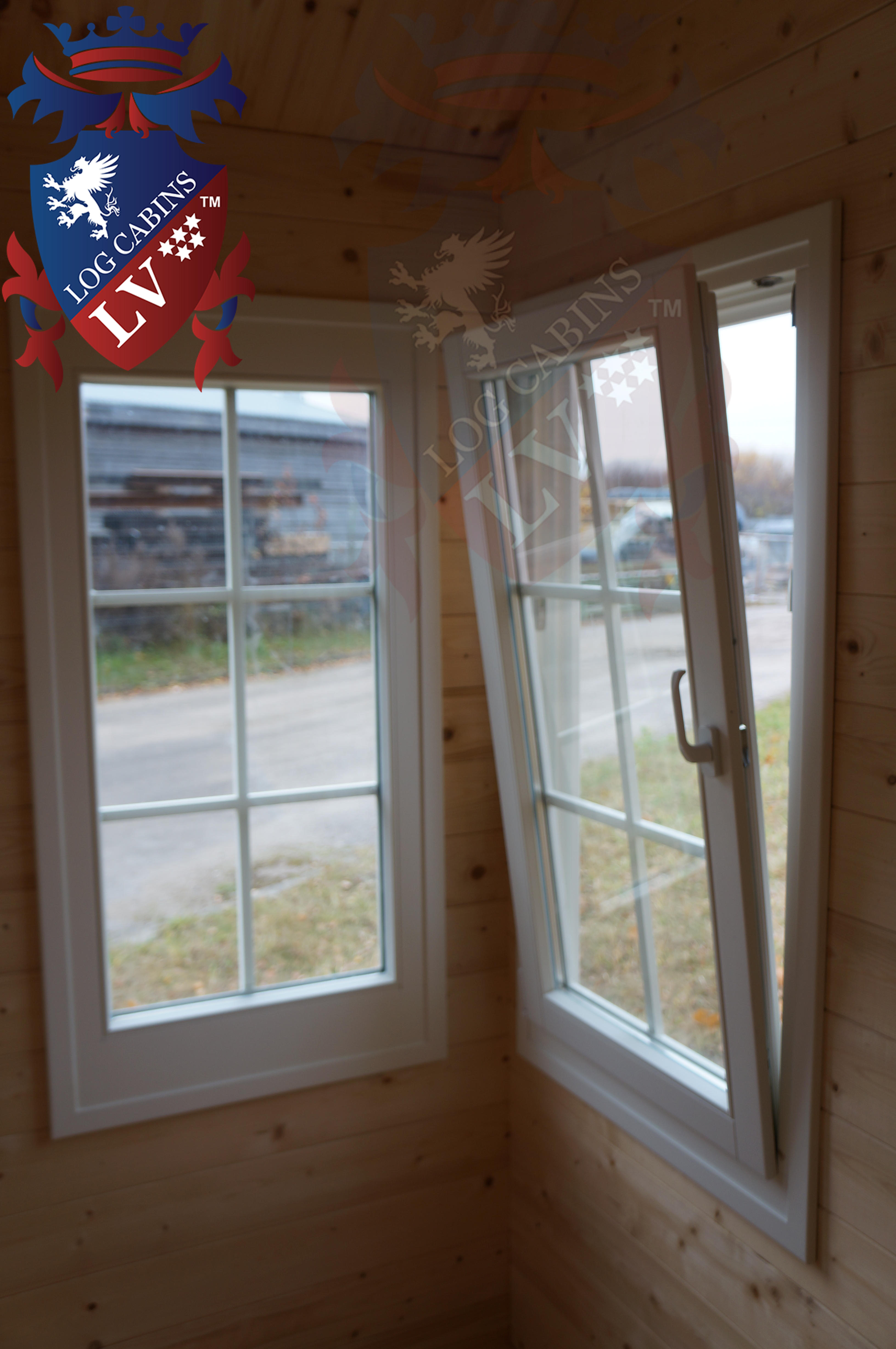 Deluxe log cabins windows and doors 4 for Log cabin window