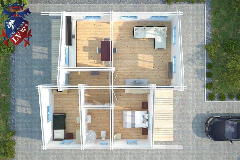 Deluxe Residential Log Cabin LV 2016 3