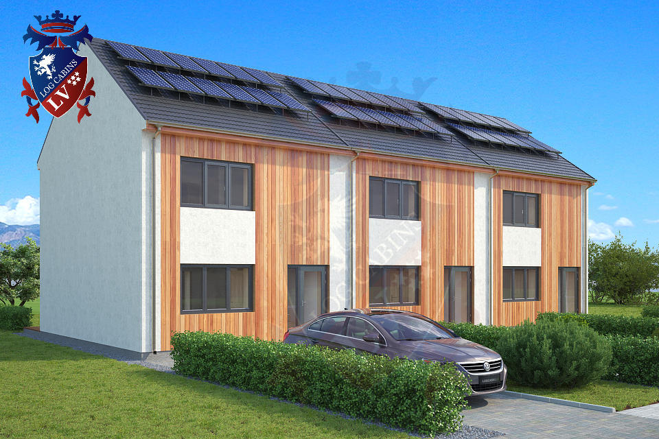 passive timber fully insulated housing