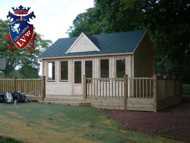 Flat Packed Log Cabins lv  350