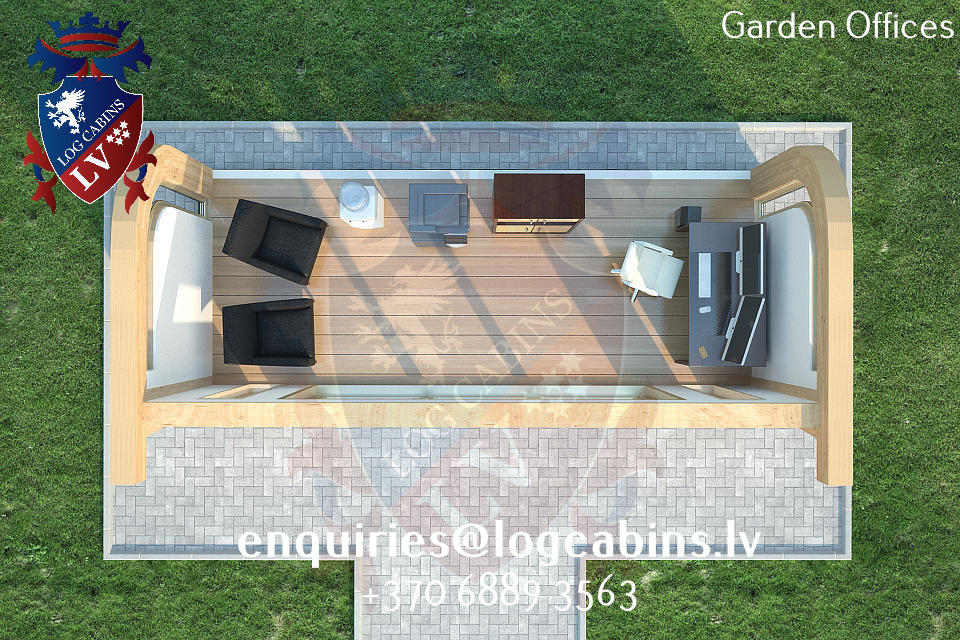 Garden Offices - log cabins lv 05