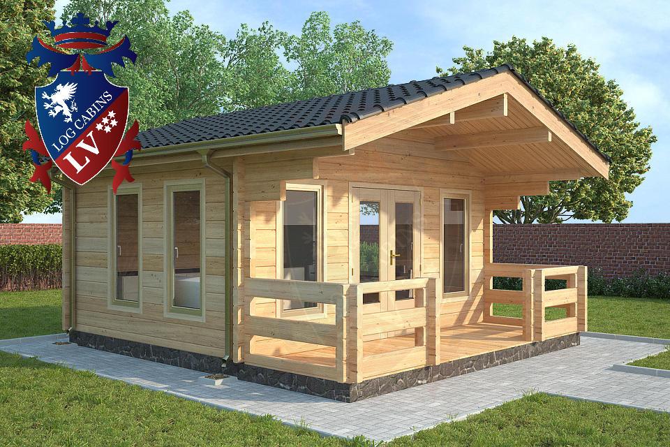 Glulam 80 mm Log Cabins lv 02