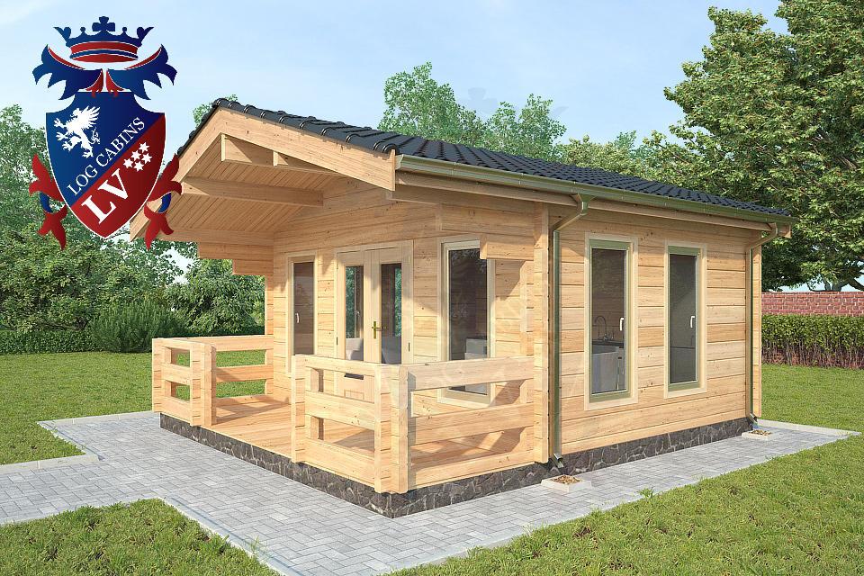 Glulam 80 mm Log Cabins lv 09