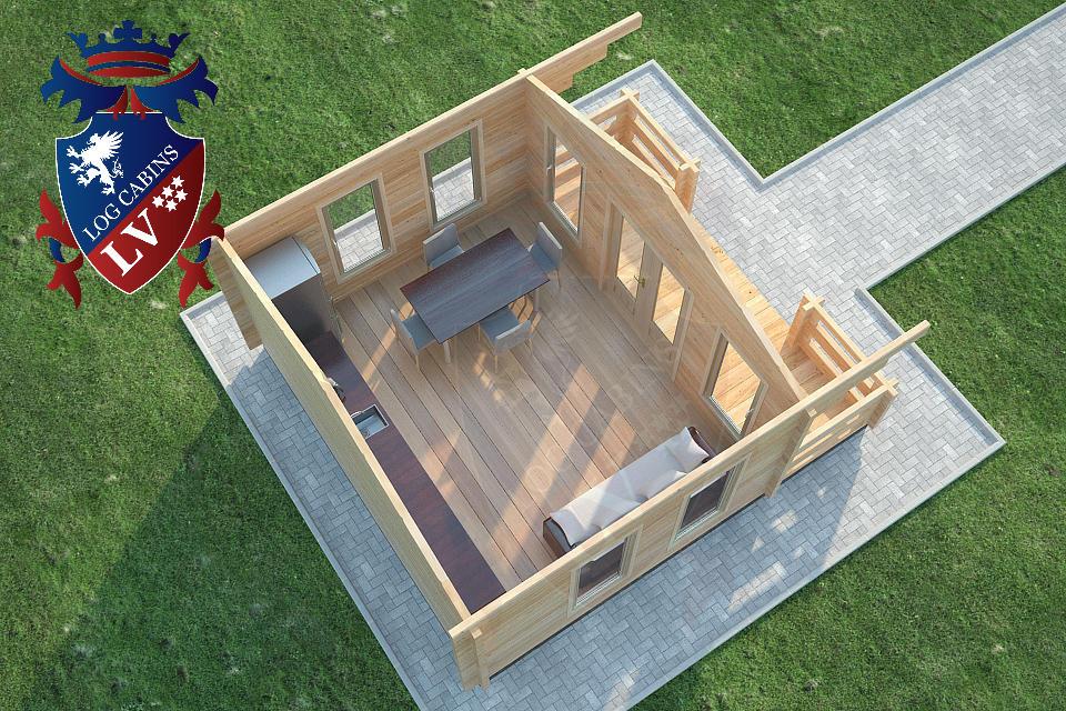 Glulam 80 mm Log Cabins lv 30