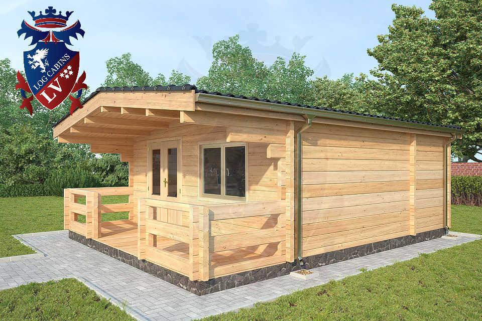 Glulam 80mm Log Cabins37