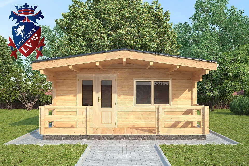 glulam 80mm log cabins to live in by log