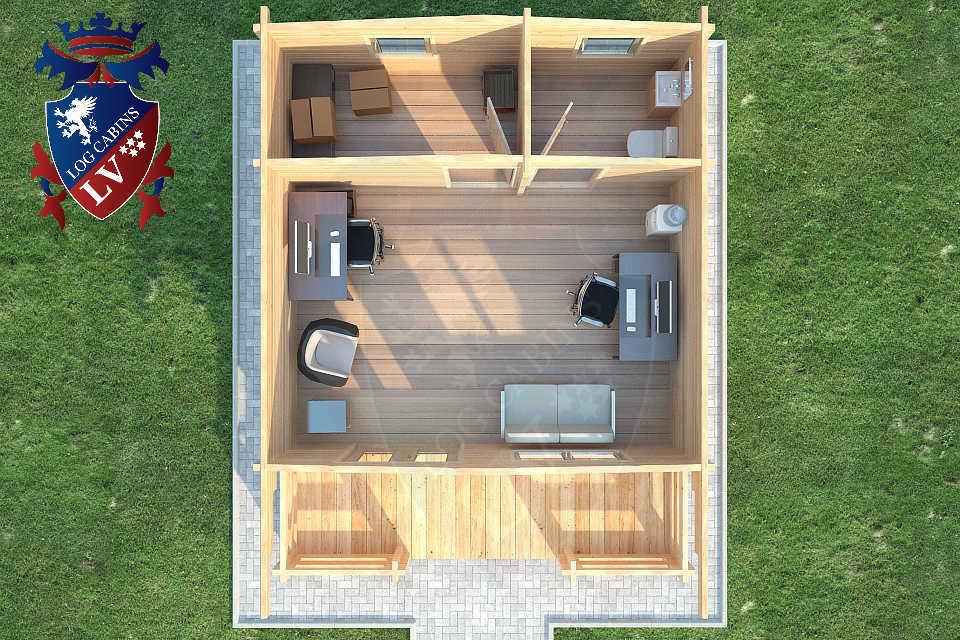 Glulam 80mm Log Cabins39
