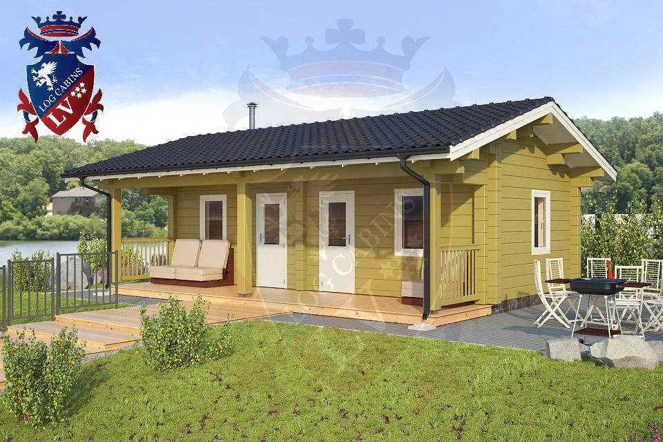 Glulam Log Cabin Sauna buildings