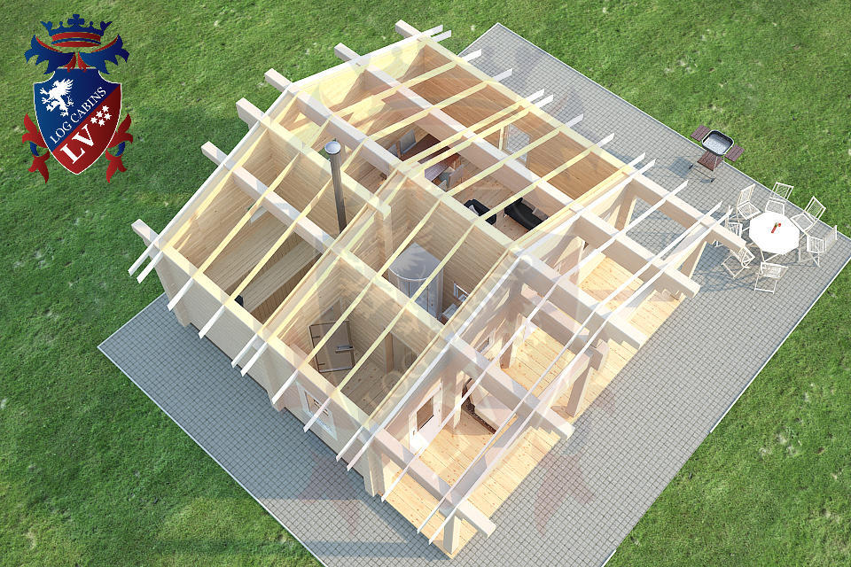 Glulam Cabins -Sauna Cabins- Log Cabins 11