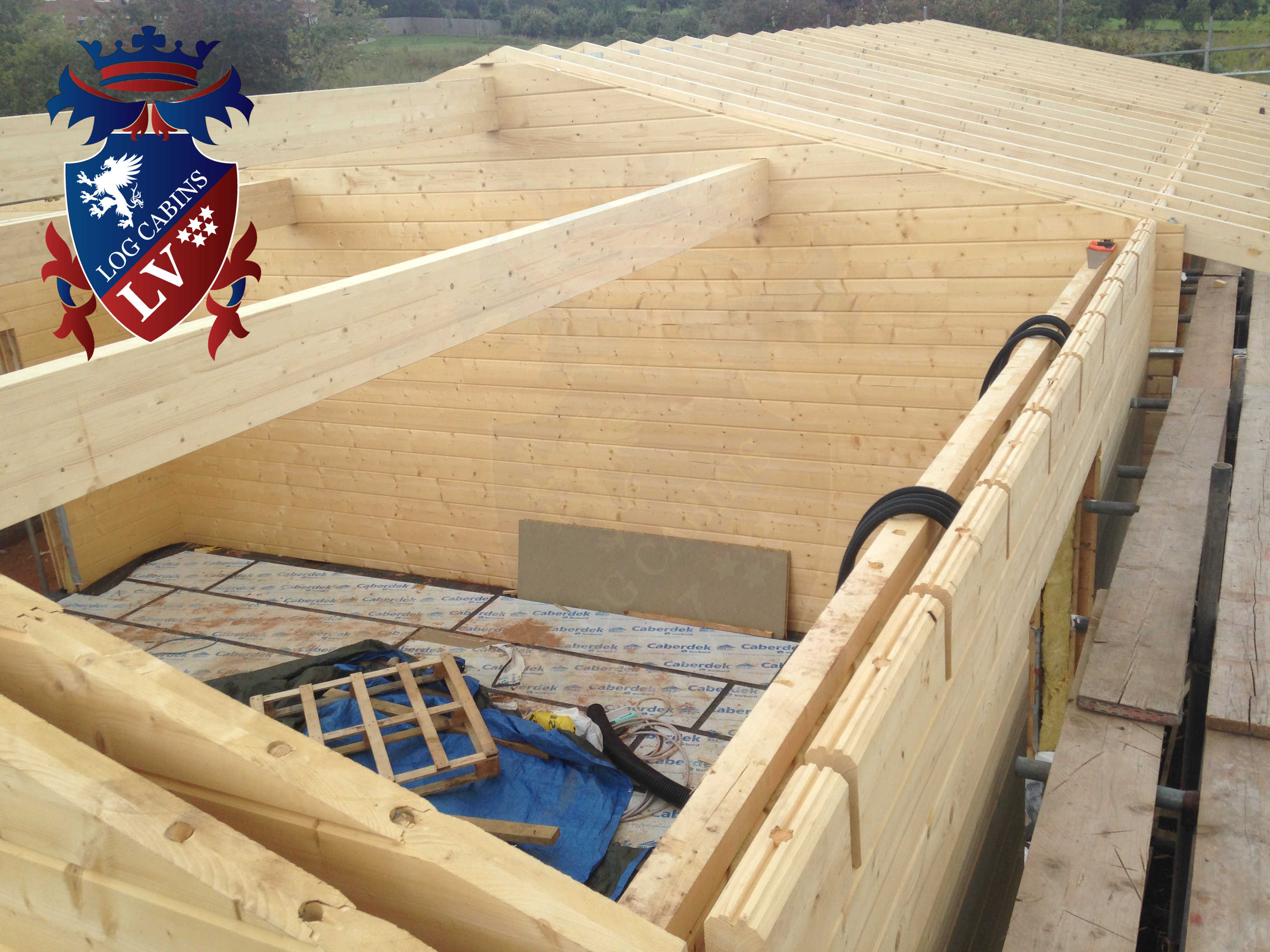 80mmx 80mm glulam log cabins
