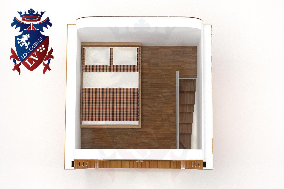 Insulated Tan 2 Storey Pod 07