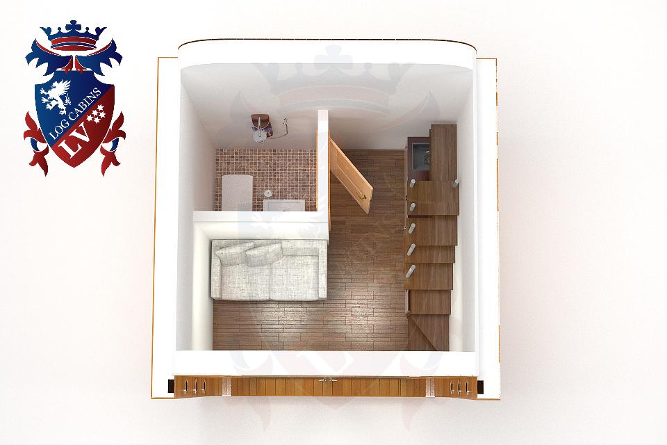 Insulated Tan 2 Storey Pod 09