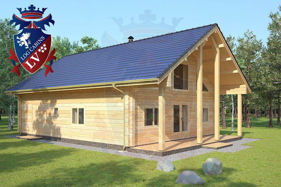 Laminated Twin Skin Log Cabin 2 Storey Homes