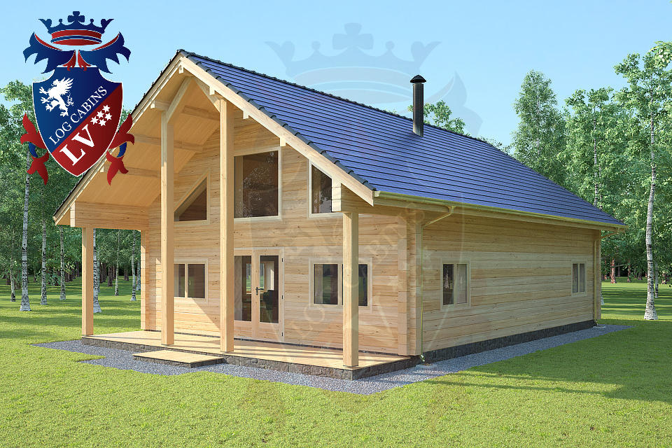 Laminated Twin Skin Log Cabin 2 Storey Log Homes Log
