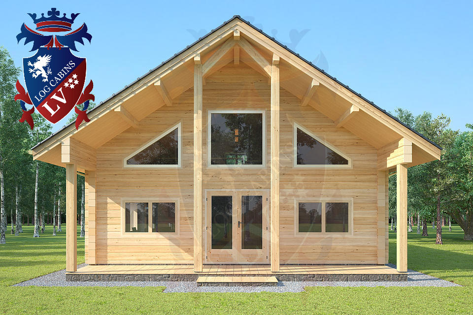 Insulated Twin Skin Log Cabin  03