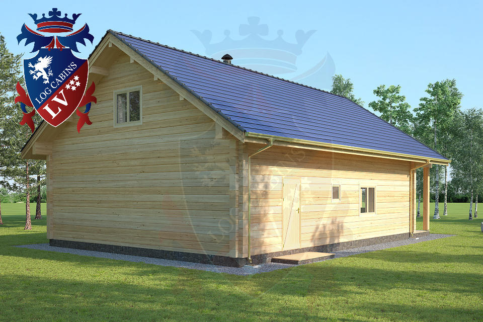 Insulated Twin Skin Log Cabin  07